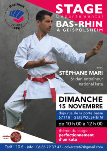 Stage Karaté : Perfectionnement Kata @ Dojo Karaté Do Geispolsheim   Geispolsheim   Grand Est   France
